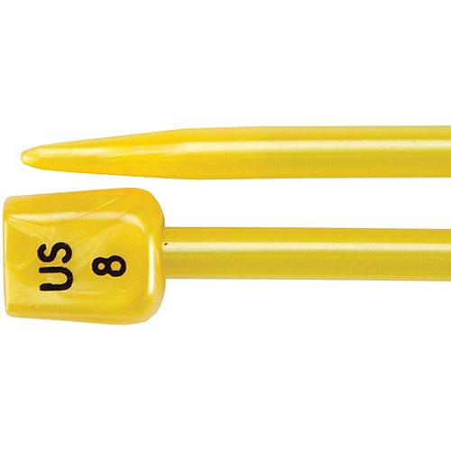"""Lion Brand Knitting Needles, 14"""", Size 8, Yellow"""