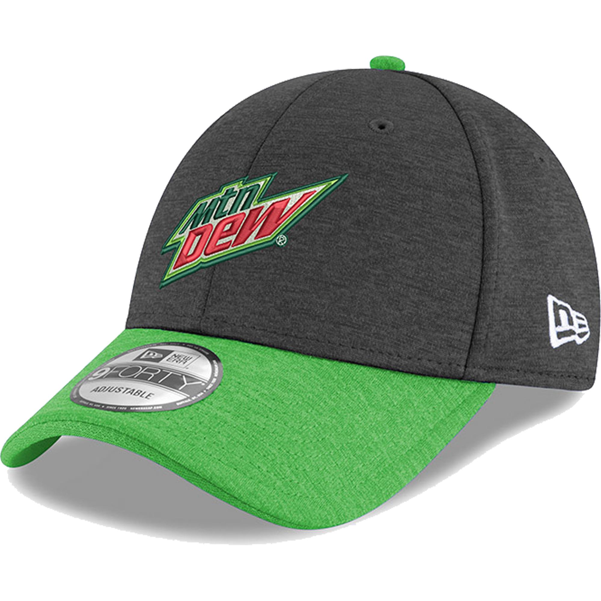 Chase Elliott New Era Mountain Dew Driver 9FORTY Adjustable Hat - Black - OSFA