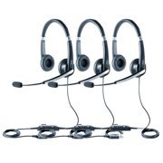 Jabra UC Voice 550 Duo Noise Reduction System Corded Headset 5599-829-209 (3 Pack)