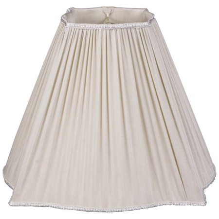 Oyster Shade - Royal Designs  Fancy Square Empire Pleated Designer Lamp Shade, Oyster 5 x 12 x 10