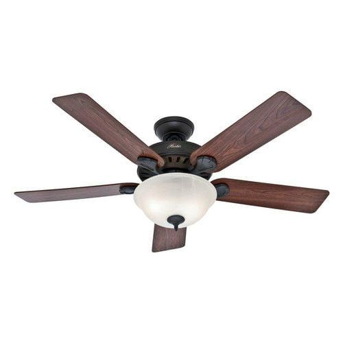 Hunter 53250 52 in. Pro's Best Five Minute Fan New Bronze Ceiling Fan with Light by Hunter