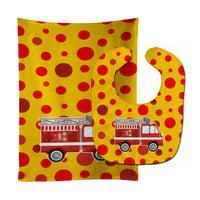 Fireman's Firetruck Baby Bib & Burp Cloth BB6998STBU
