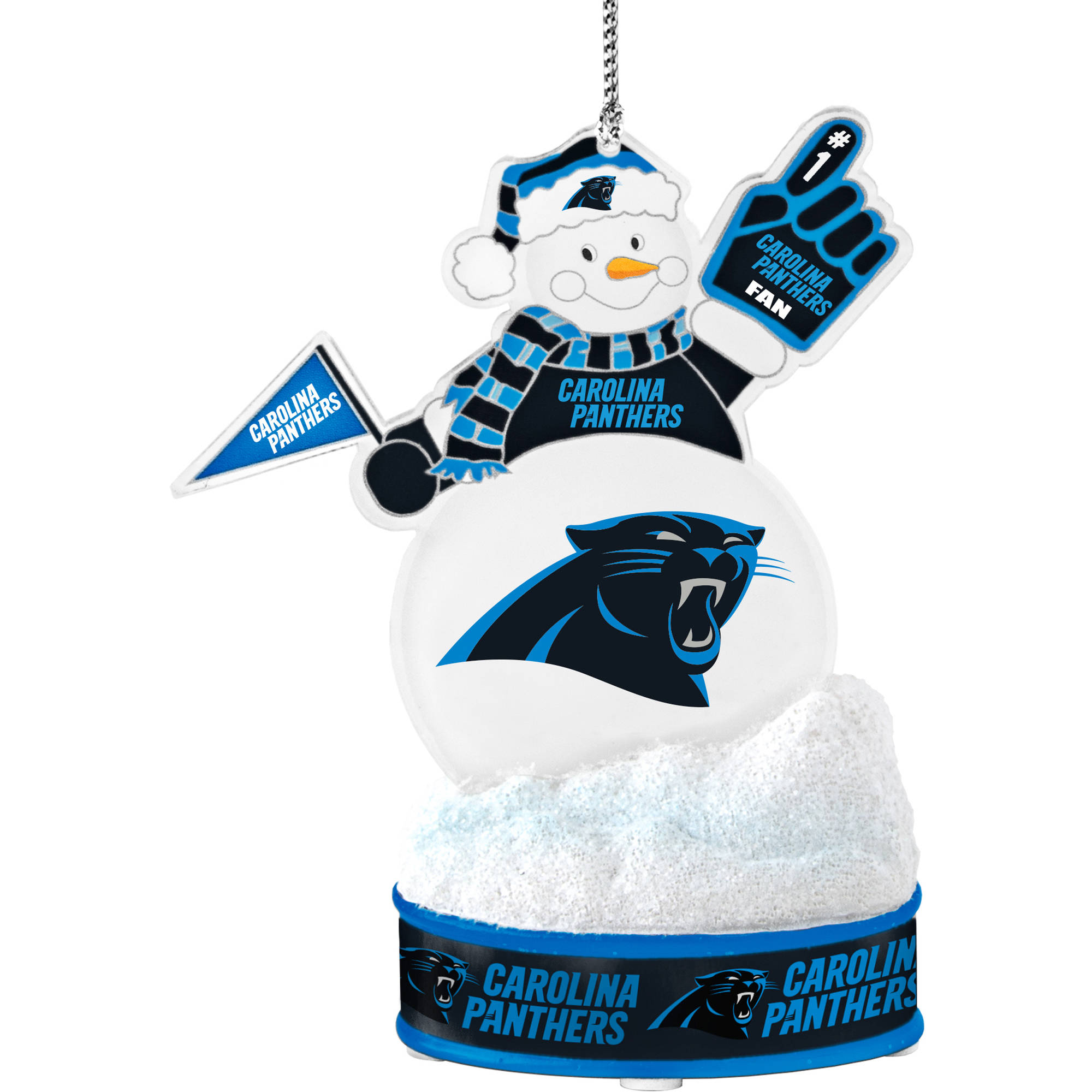 Topperscot by Boelter Brands NFL LED Snowman Ornament, Carolina Panthers