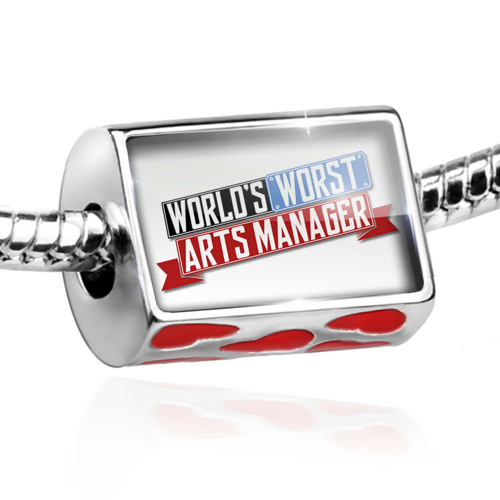 Bead Funny Worlds worst Arts Manager Charm Fits All European Bracelets