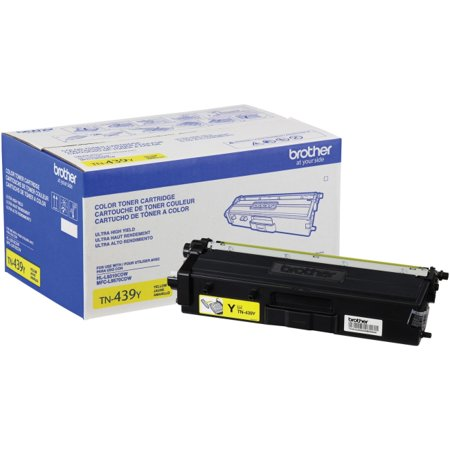 Brother TN439Y Original Toner Cartridge - Yellow - Laser - Ultra High Yield - 9000 Pages