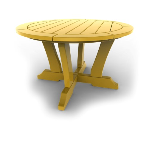 Round Patio Table by Malibu Outdoor - Laguna, Yellow - 36\