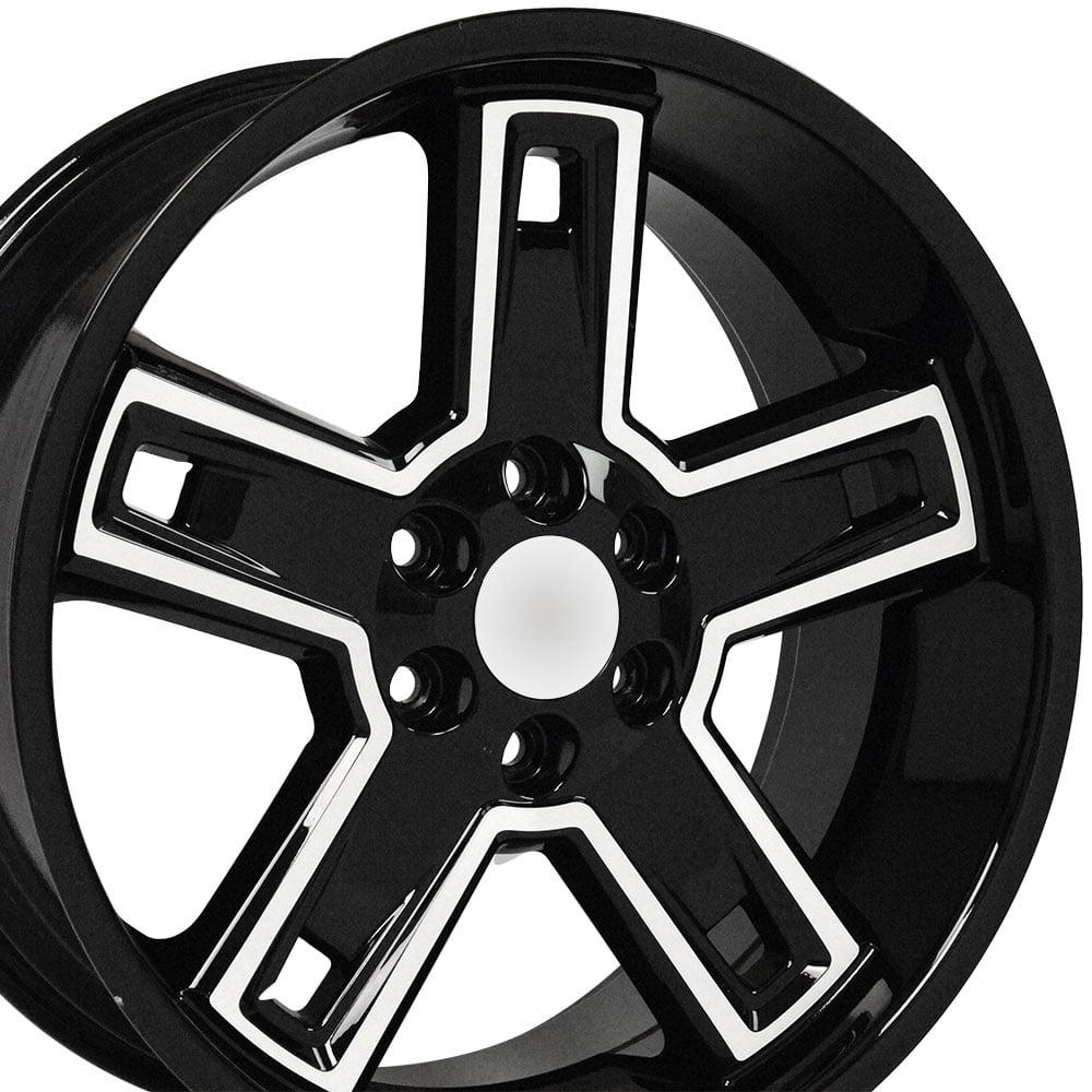 22x9 5 wheels fit gmc chevy chevy silverado style rims dd black 2017 Chevy Avalanche 22x9 5 wheels fit gmc chevy chevy silverado style rims dd black with machined face set walmart