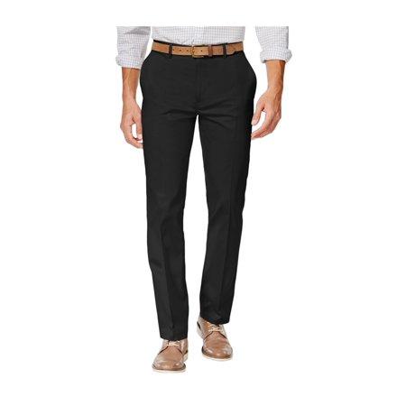 Alfani NEW Solid Deep Black Mens Size 36X32 Khaki Chino Stretch Pants