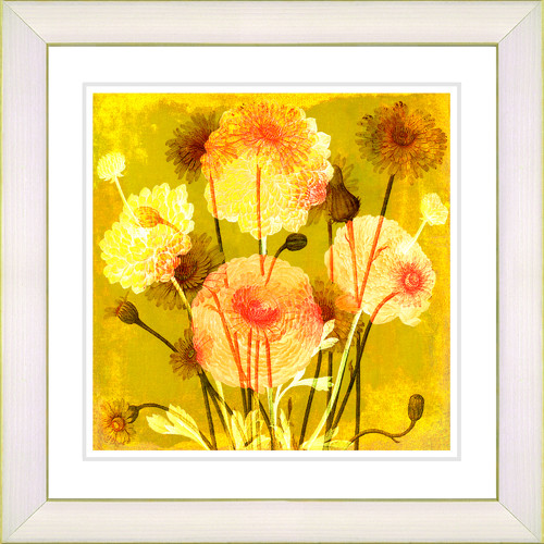 Studio Works Modern Balabosta 'Barcelona Garden' by Zhee Singer Framed Painting Print in Yellow
