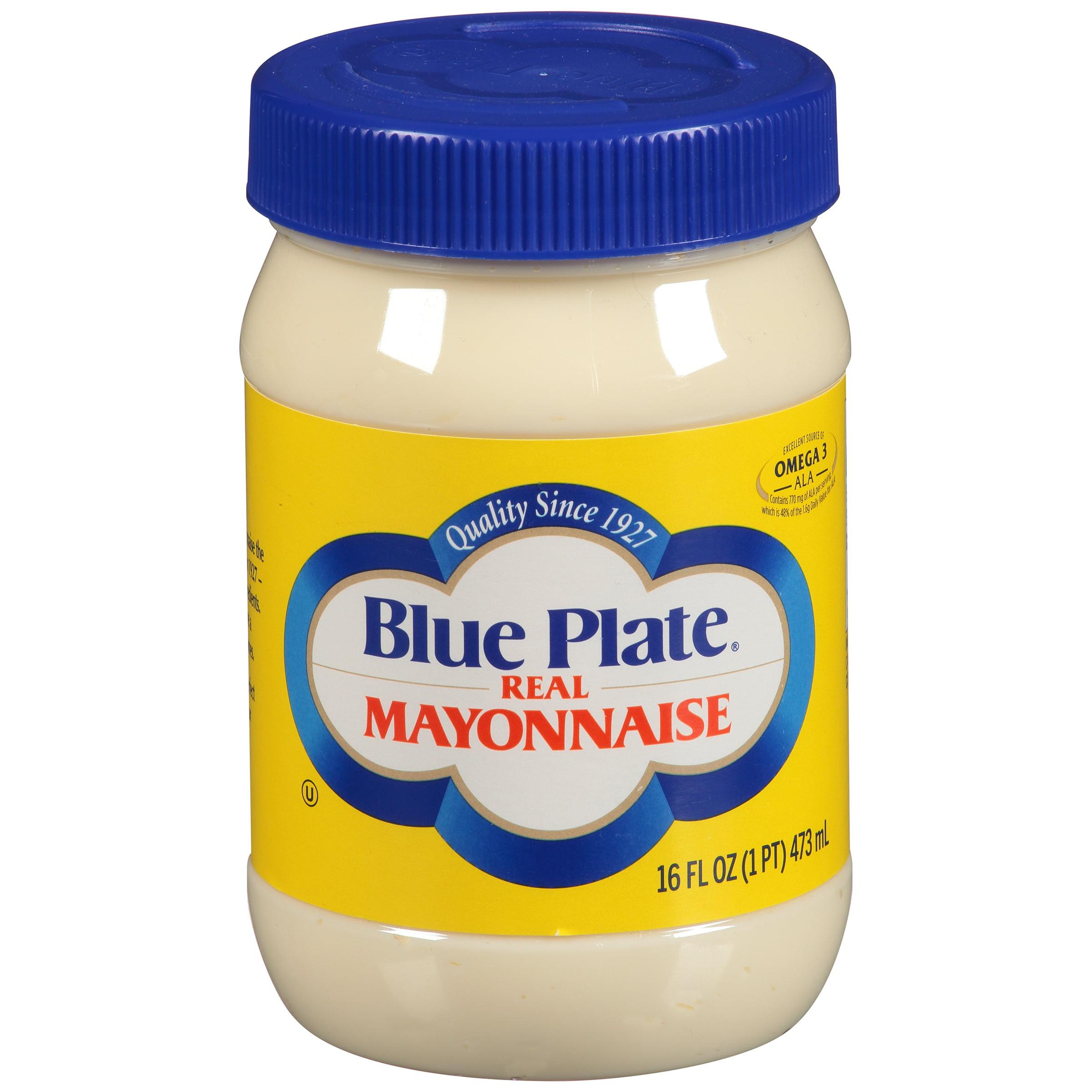 Blue Plate Real Mayonnaise, 16 fl oz - Walmart.com