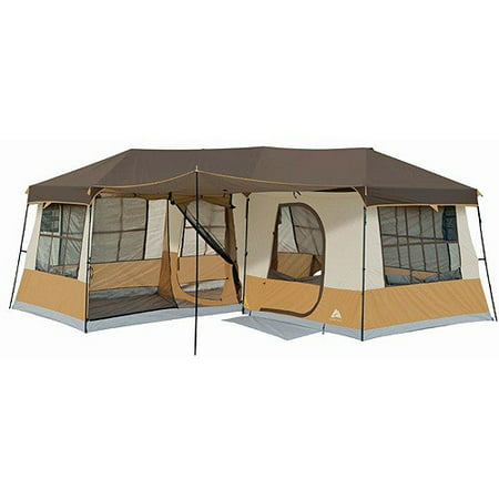 Ozark trail 12 person 3 room cabin tent for Tent cottage
