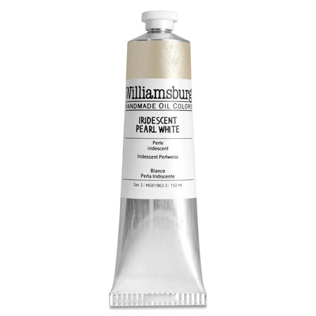 Williamsburg Handmade Oil Paints - Iridescent Pearl White, 150 ml (Hand Painted Pearl)