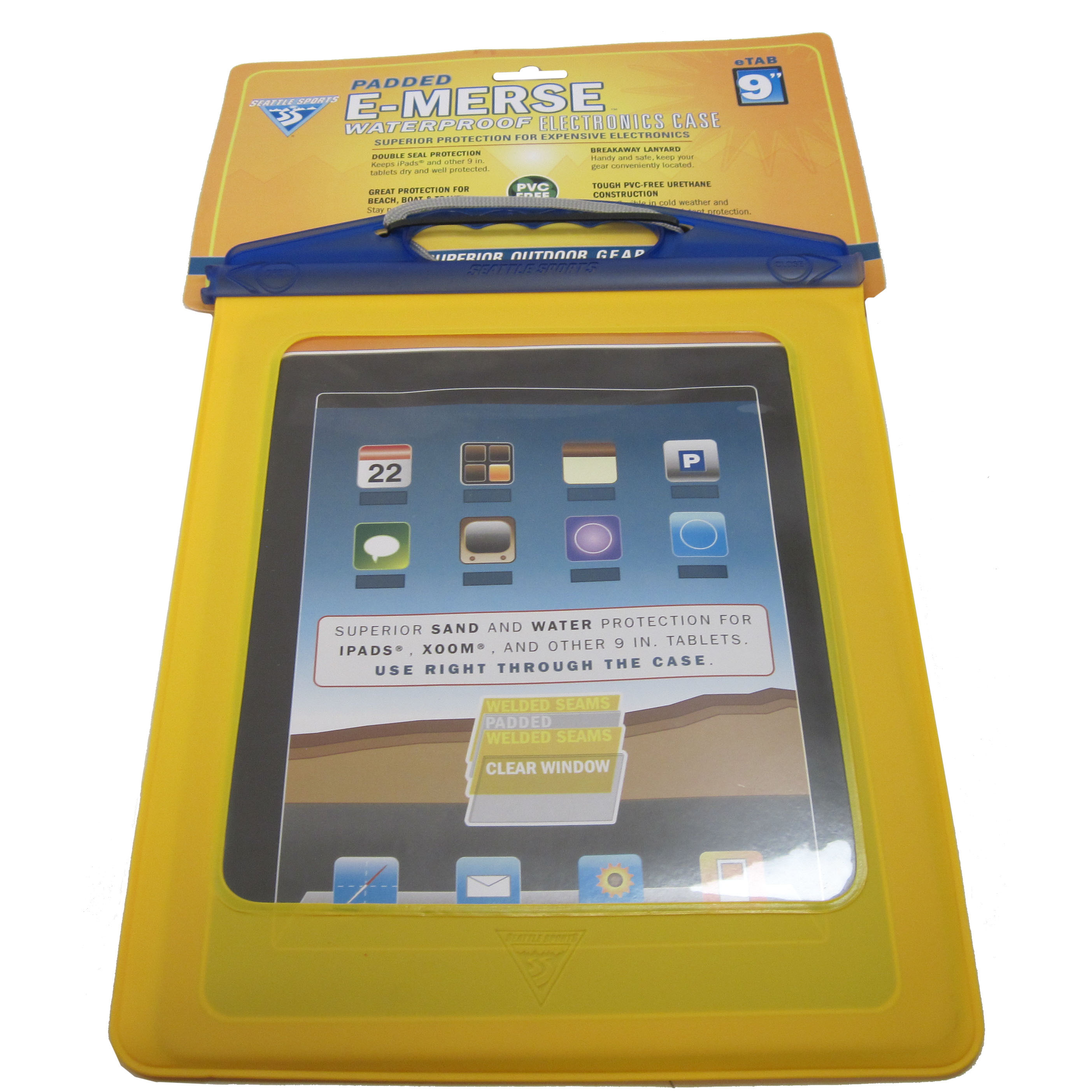 "Seattle Sports E-merse 9"" eTab/iPad, Yellow"