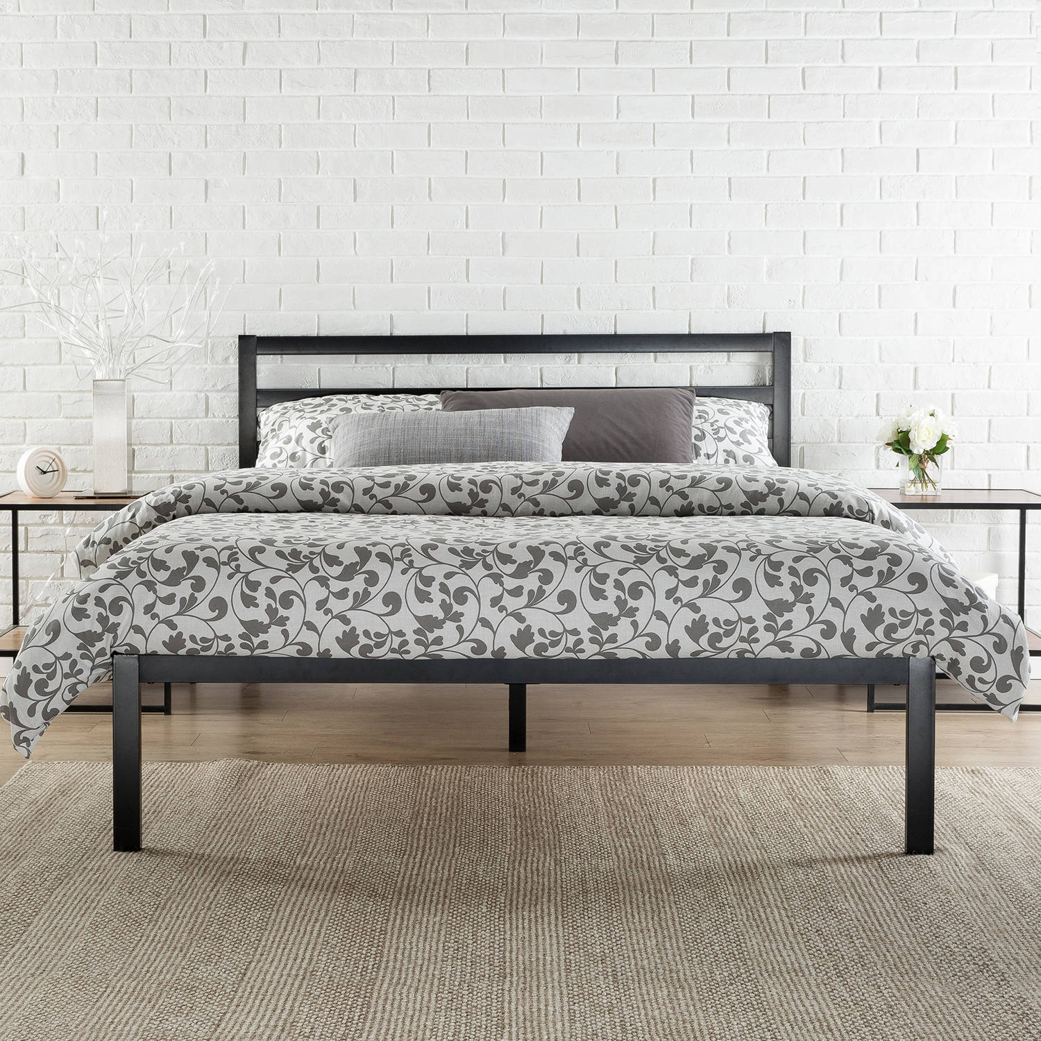 "Zinus 14"" Metal Platform Bed with Headboard, Multiple Sizes"