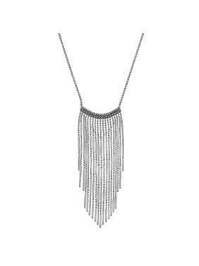 363130da5 Product Image Sterling Silver Bead Fringe Necklace. SIMPLY SILVER