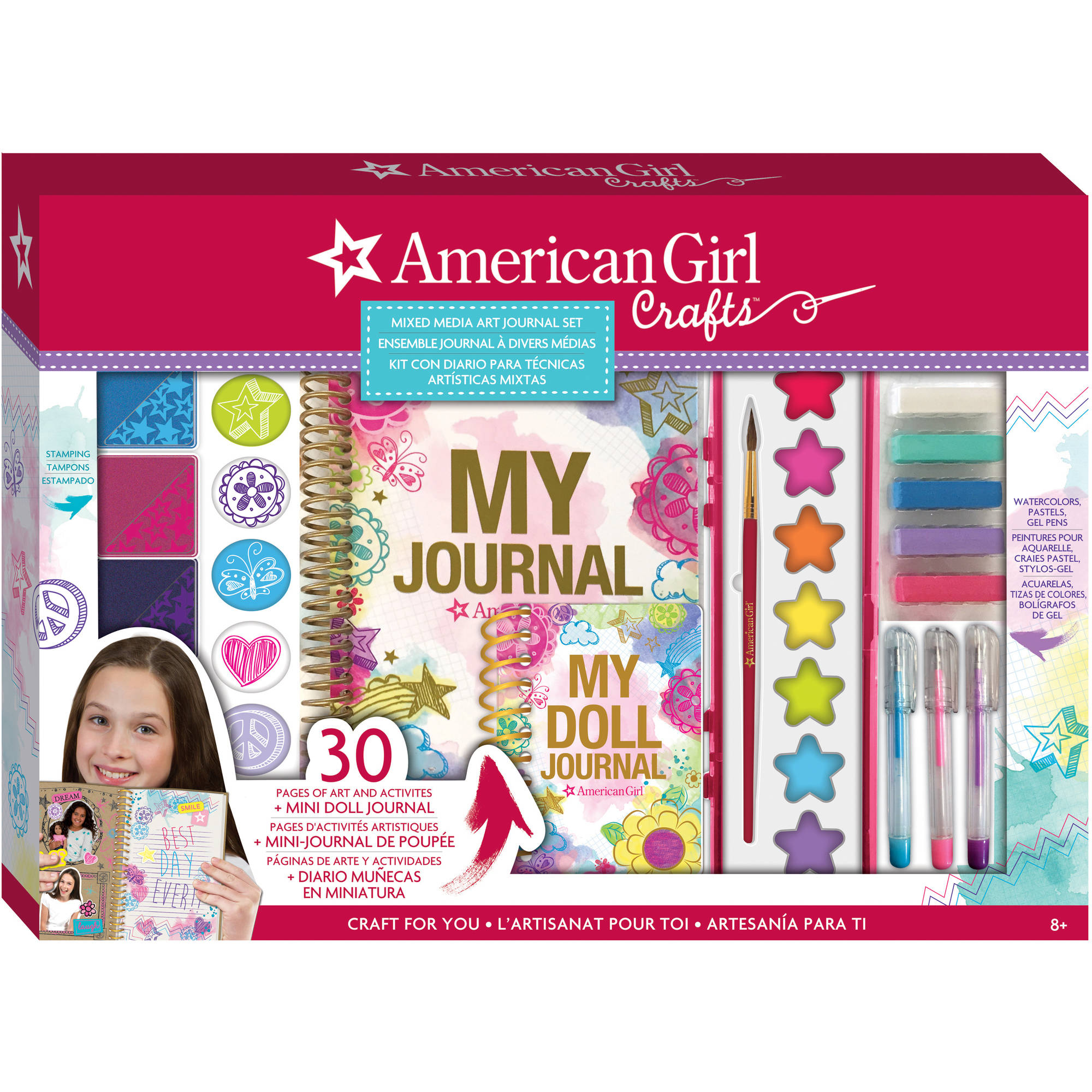 American Girl Mixed Media Art Journal Set by