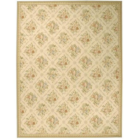 Due Process Stable Trading Aubusson Arras Ivory & Beige Area Rug, 5 x 8 ft. - image 1 de 1