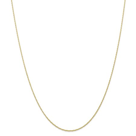 10k Yellow Gold 0.7 mm Carded Cable Rope Chain Necklace 20inch 10k Yellow Gold Flower