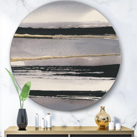 Designart 'Glamorous Morning Fog III' Glam Metal Circle Wall Art - image 1 of 3