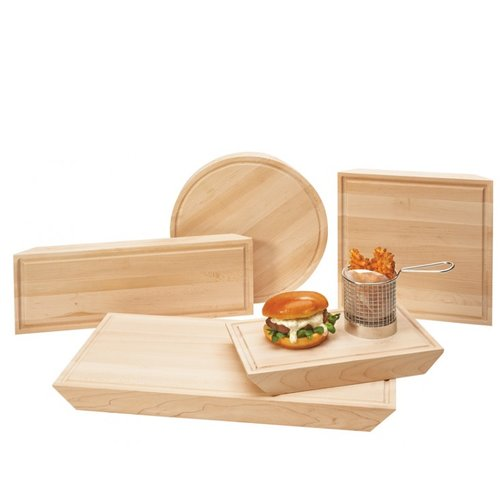 CAL-MIL Maple Burger Serving Board (Set of 3)