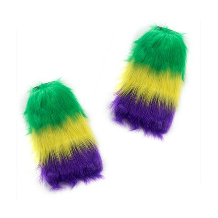 Mardi Gras Furry Leg Warmers - Cheap Furry Leg Warmers