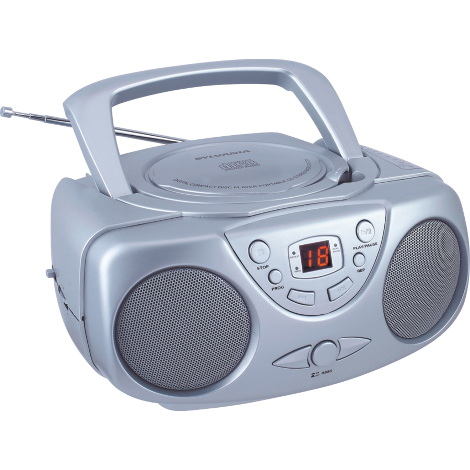 Sylvania SRCD243M Portable CD Boom Box with AM/FM Radio