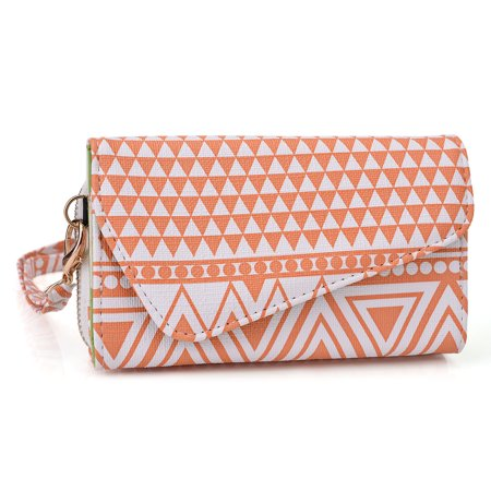 Smartphone Leather Clutch Cell Phone Wristlets Organizer (Navajo Tribal Print) (Cell Phone Orgainzer)