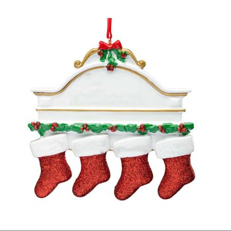 Christmas Mantel Stocking Ornament (Mantel Christmas Decorating Ideas)