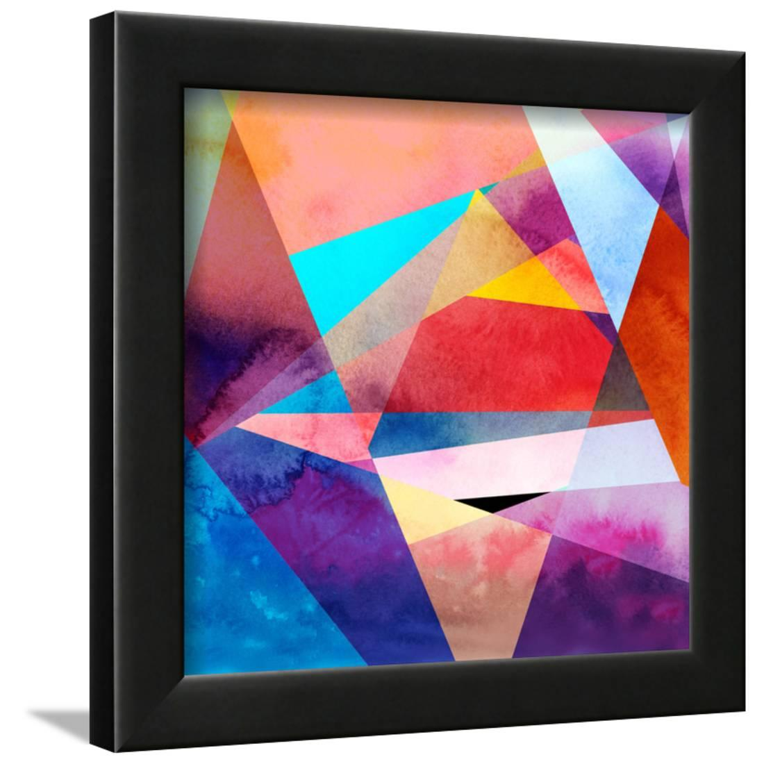 Abstract Watercolor Geometric Background Framed Print Wall Art By tanor27