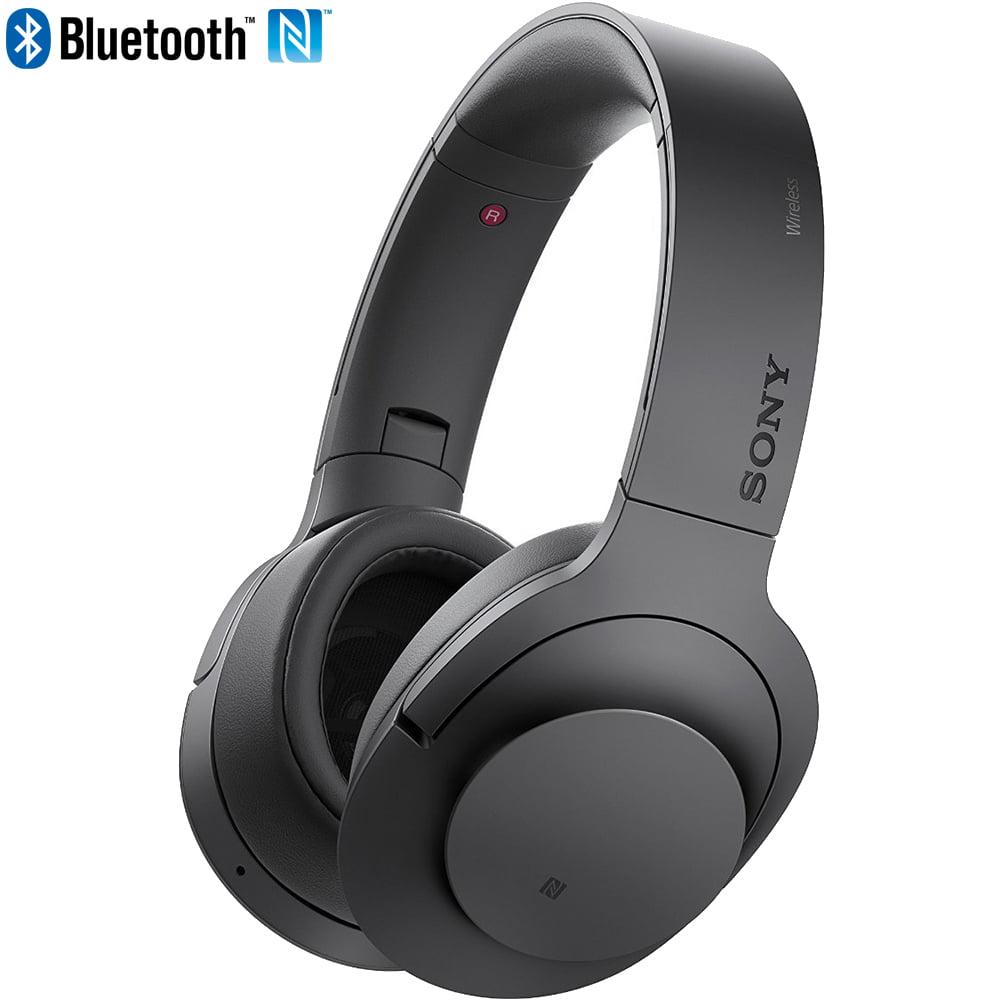 Sony MDR100 h.Ear on Wireless NC On-Ear Bluetooth Headphones w/ NFC - Charcoal Black - (Certified Refurbished)