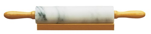 4050 Marble Rolling Pin and Base, White, Ship from USA,Brand Fox Run by