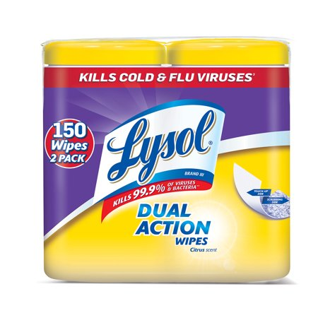 Kitchen Wipe - Lysol Dual Action Disinfecting Wipes, Citrus 150ct (2X80ct)