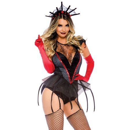 Leg Avenue Womens Black Widow Spider Halloween (Women's Spider Costume)