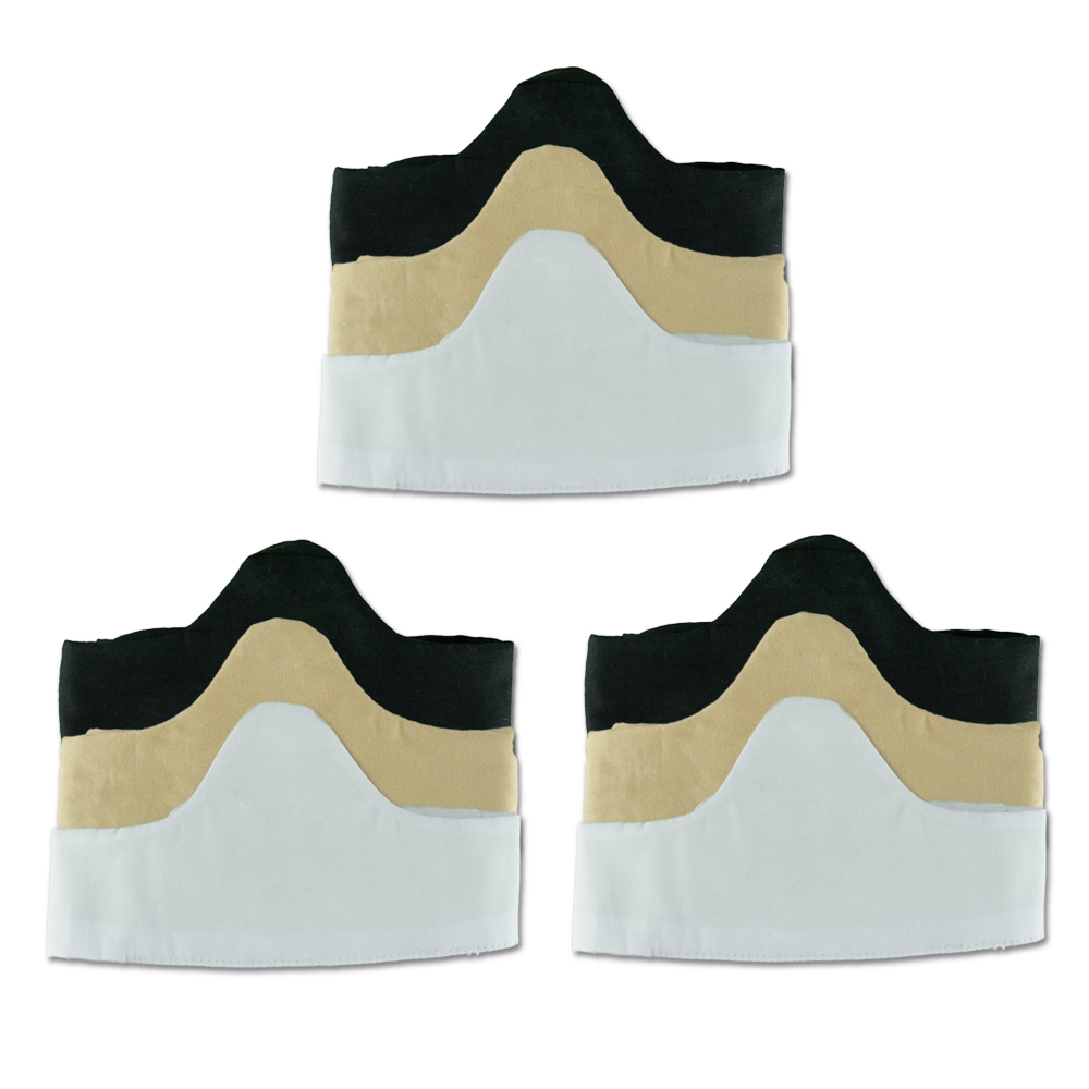 3-Pack Bra Liners Black, Beige, White - 100/% Cotton Medium