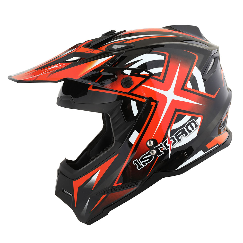 1Storm Youth Motocross Helmet BMX MX ATV Dirt Bike Helmet Teenager Racing Style; Matt Black