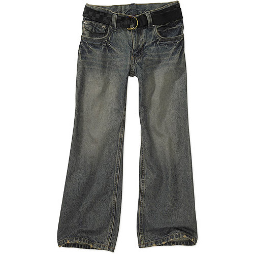 Faded Glory - Boys' Belted Bootcut Denim Jeans