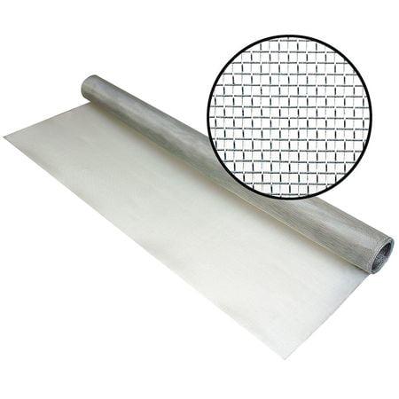 Aluminum Screen Cloth 18x16 Mesh (Phifer 3000776 Aluminum Door and Window Screen, 48 in.x50)