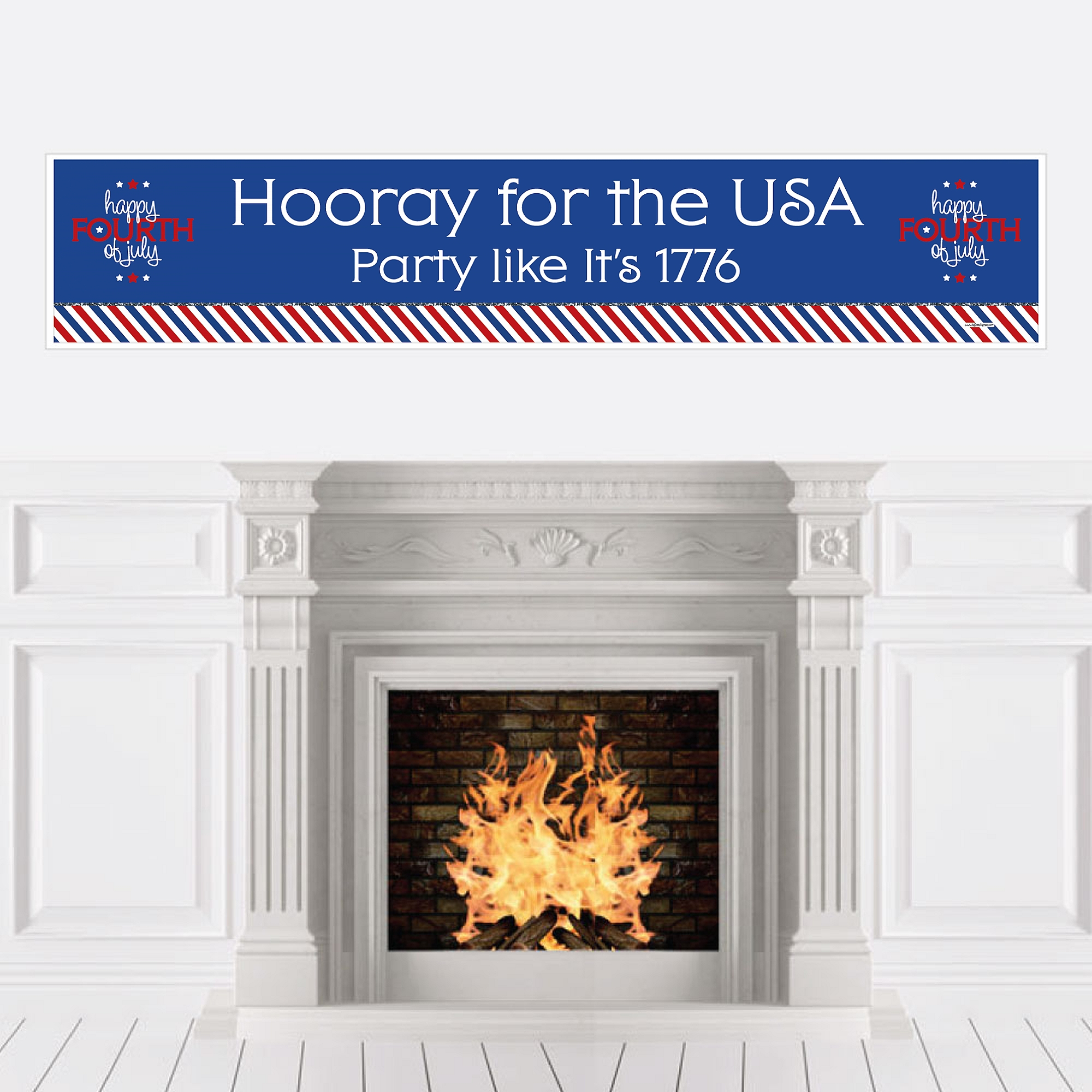 4th of July - Party Decorations Independence Day Party Banner
