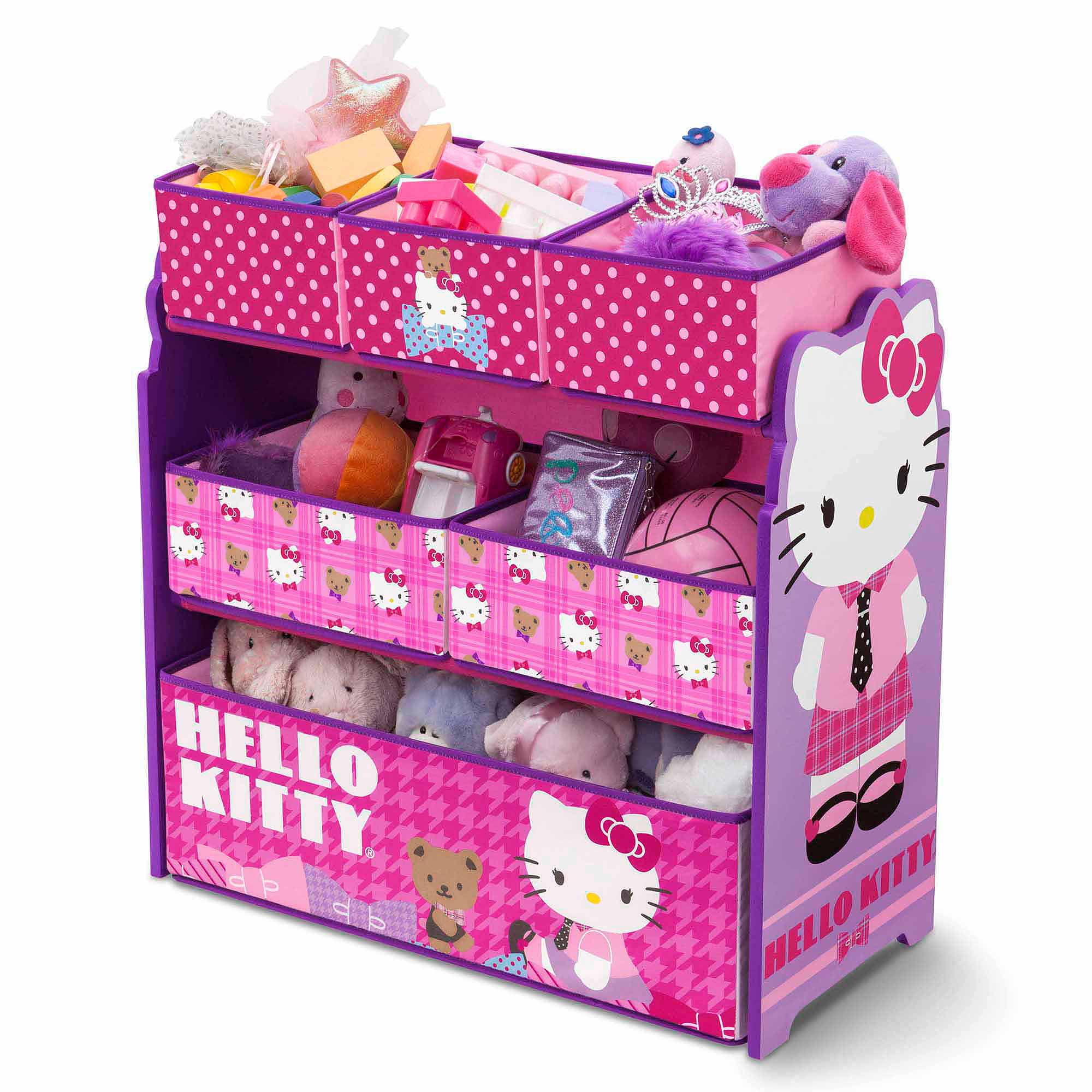 Hello Kitty Toys Set : Hello kitty bedroom set with bonus toy organizer walmart