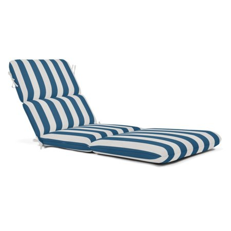 Sunbrella Striped Outdoor Chaise Cushion 74 x 22 in. - Maxim Regatta ()