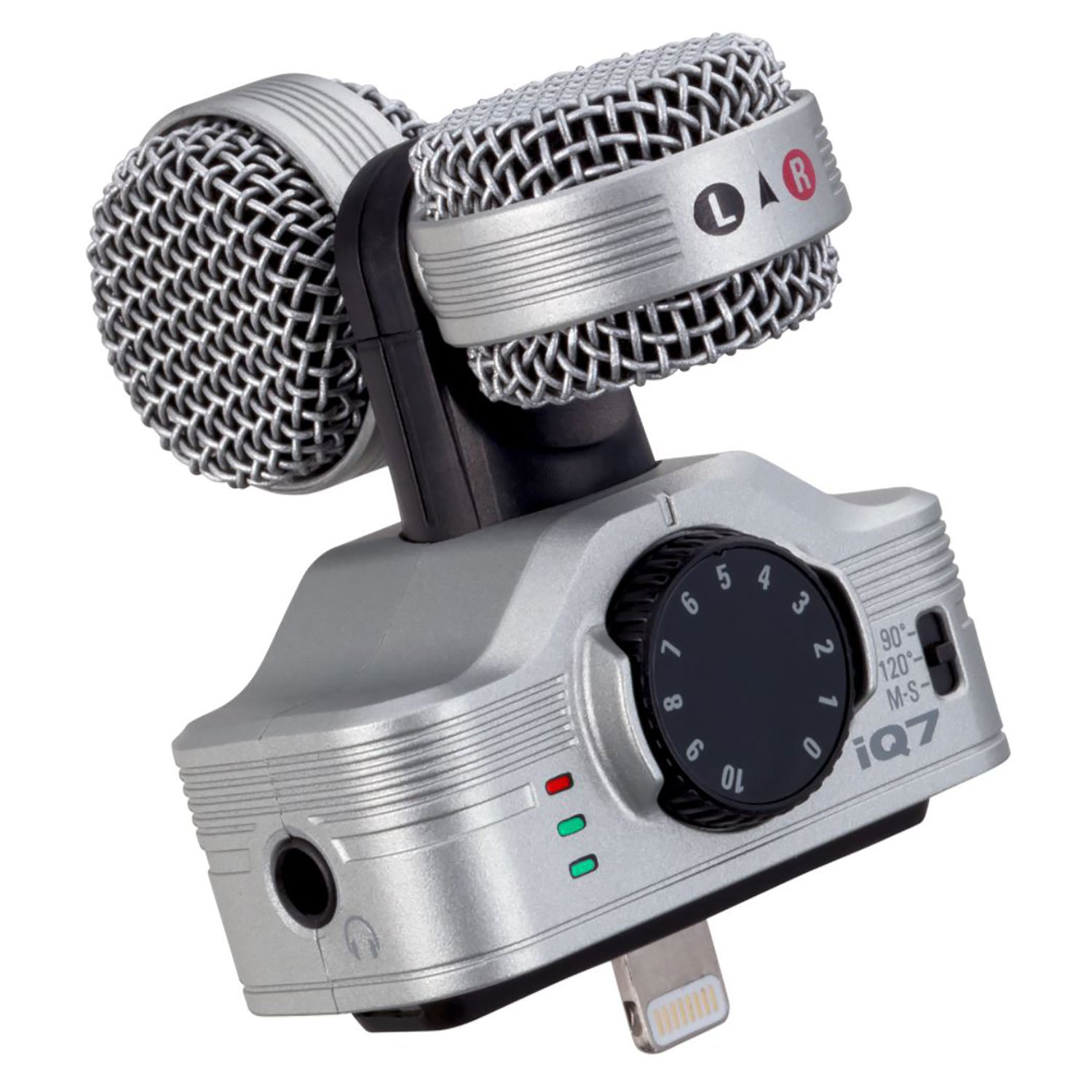 Zoom iQ7 Professional Stereo Lightning Connector for iOS Microphone Recorder