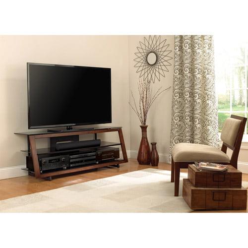 """Bello 60"""" 3-Shelf A/V Stand for TVs up to 65"""", Medium Espresso"""