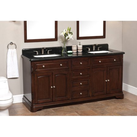 the latest 78a7e d1f04 Lanza Luton 72'' Double Bathroom Vanity Set - Walmart.com