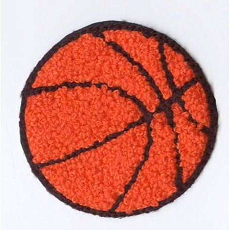 Chenille Basketball - Orange/Black - 2-3/8