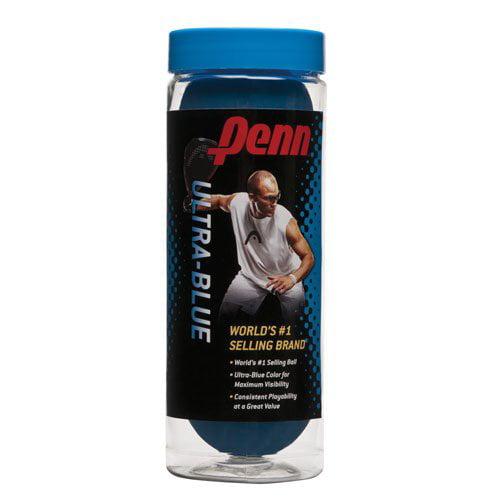 Penn Ultra-Blue Racquetball, 3-Ball Can by Head