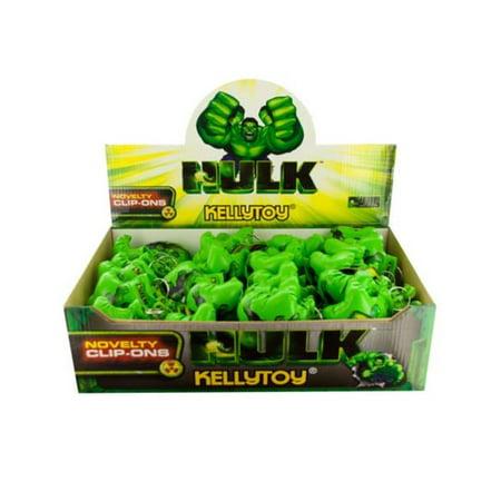 Hulk Gloves (Kole Imports KL466-48 The Incredible Hulk Boxing Glove Keychain Countertop Display - Pack of)
