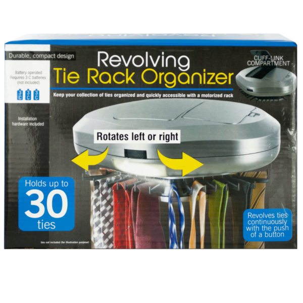 Revolving Tie Rack Organizer (Pack Of 2)