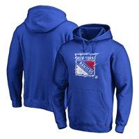 New York Rangers Fanatics Branded Splatter Logo Pullover Hoodie - Royal