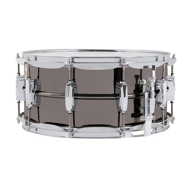 "Ludwig LB417 Black Beauty 6.5""x14"" Smooth Brass Snare Drum w/ Imperial Lugs"