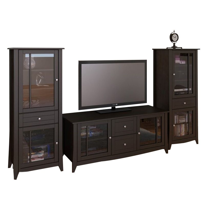 "Nexera Elegance 3-Piece 58"" Entertainment Package in Espresso"